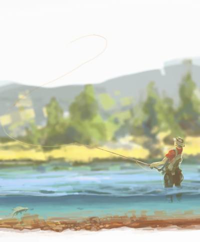 Рыбалка рисунок