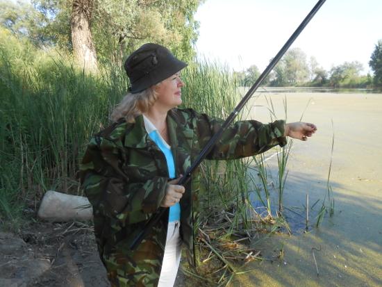 Занятие рыбной ловлей