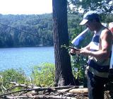 Рыболов с удочкой