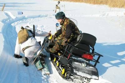 Езда на снегоходе