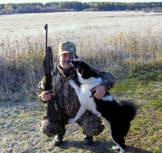 Охота с собакой осенью