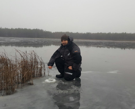 Лов сига зимой