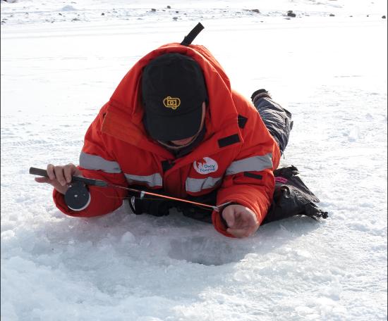 Опробовать лед