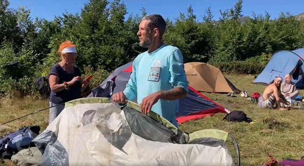 Медведь напал на стоянку туристов в горах Сочи