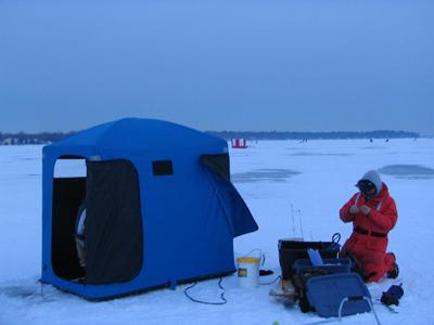 Зимняя рыболовная палатка